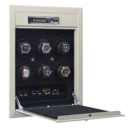 Orbita WallSafe 6 Watch Winder Safe W21700, Solid Steel, Lithium Battery