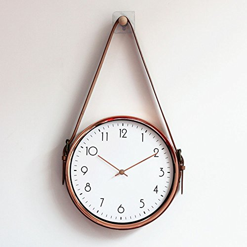 European Creative Wall Clock Silent Living Room Modern Minimalist Nordic Metal Wall Mounted Quartz Clock Home Decoration (Harz Glas)