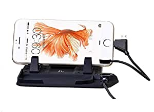 Magnetic Force Mobile Phone Holder USB Charging Car Stand for iPhone, Android GPS Car Charging Dock