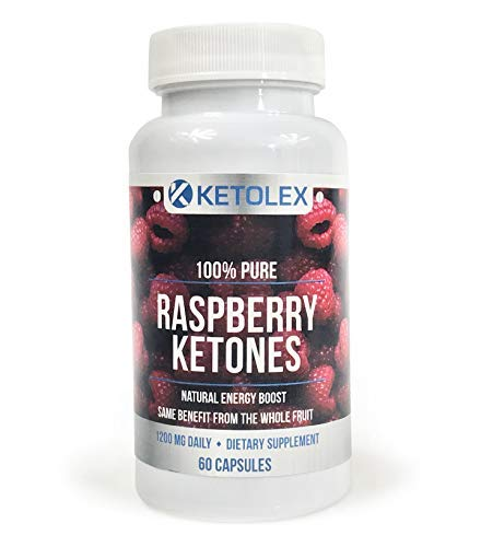 100% Pure Raspberry Ketones, Advanced Natural Weight Loss Supplement, 1200mg of All Natural & Max Strength Diet Pills, Boosts Energy & Metabolism | 60 Veggie Capsules
