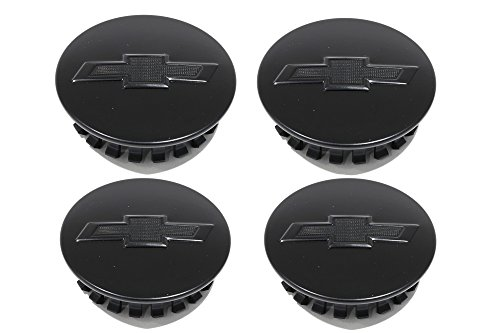 Camaro Center Cap - OEM NEW Wheel Center Caps Set of 4 Satin Black w/ Bowtie 16-17 Camaro 23115614