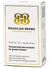 Brazilian Brows Eyebrow Henna   Dark Chestnut   Pack & Tinting Kit   Profesional usage