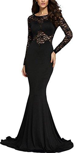 SunIfSnow - Robe spécial grossesse - Uni - Manches Longues - Femme noir noir L