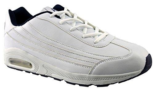 Air Tech Chaussures De Course En Cuir Synthétique Pour Hommes 9 Blanc