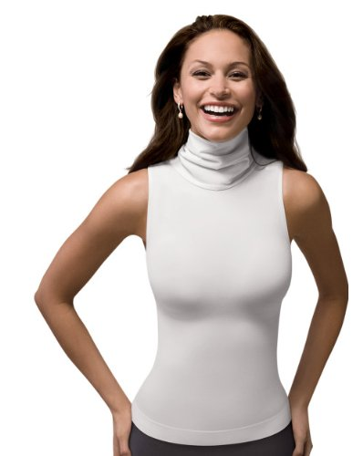 5c318dd9e5778 SPANX On Top and in Control - Chic Sleeveless Shaping Turtleneck (974)  White