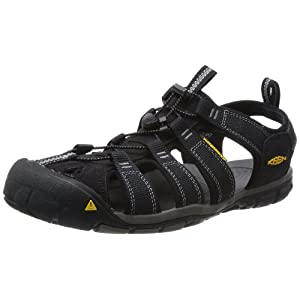 KEEN Men's Clearwater CNX Sandal,Black/Gargoyle,10.5 M US