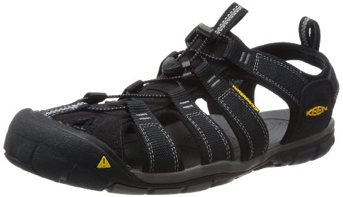 (KEEN Men's Clearwater CNX Sandal,Black/Gargoyle,10 M US)
