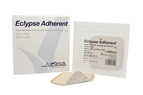 (Dukal CR3881 Eclypse Adherent Super Absorbent Dressing, Sterile, 4