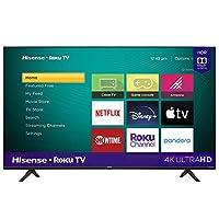 Hisense 43-Inch Class R6090G Roku 4K UHD Smart TV with Alexa Compatibility (43R6090G, 2020 Model)
