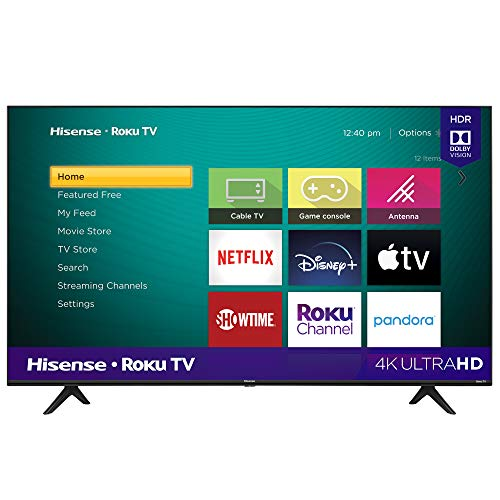 Hisense 43-Inch Class R6090G Roku 4K UHD Smart TV with Alexa Compatibility (43R6090G, 2020 Model)
