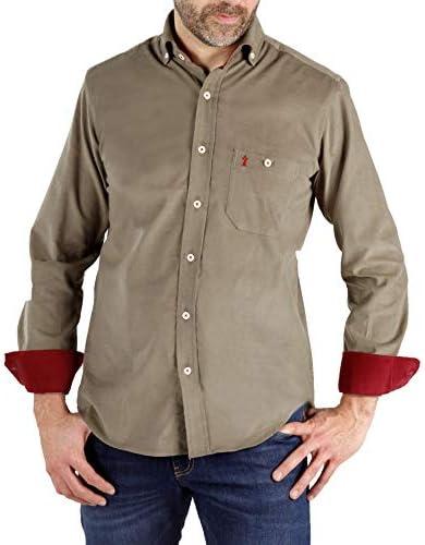 Enrique Pellejero Camisa Pana Caqui (XL): Amazon.es: Ropa