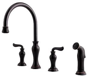Price Pfister F0314VAY Florentino Hight Arc 4 Hole Kitchen Faucet, Tuscan  Bronze