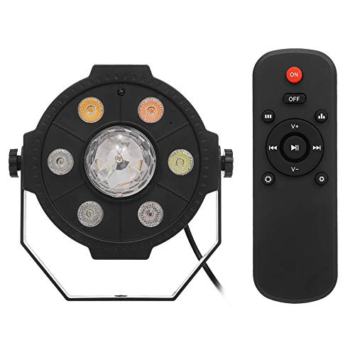 Galapara Mini DJ Party Lamp LED Par Lights RGB Spotlight, BT Speaker 9 LEDs Wireless Remote Control U Disk for Stage KTV Disco Karaoke Club Pub Show Music Events Stage Lighting Effect (Black)