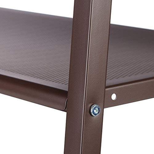 Relaxdays Kleiderst/änder Metall auf Rollen 2 Schuhablagen 16 Schuhe Kleiderstange HxBxT: 180 x 102 x 44 cm braun