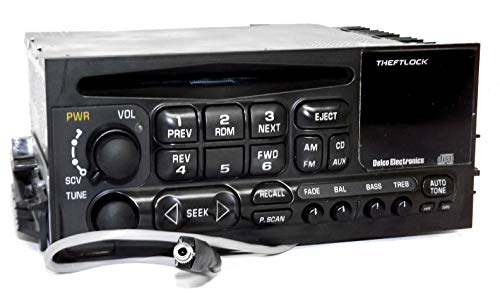 1 Factory Radio AM FM CD Player w Aux Input Compatible With 1995-05 Chevrolet GMC Truck 15766343