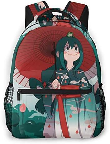 My Hero Academia Backpack Froppy Asui Tsuyu Boku No Hero Daypack Bookbag