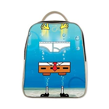 Hecho a mano auténtica de mercancías de Bob Esponja Mochila Bolsa de hombro Niños Bolsa de hombro crujiente Backpacking: Amazon.es: Hogar