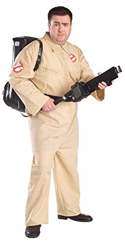 Ghostbusters Costume With Inflatable Backpack, Plus Size, Adult Plus -