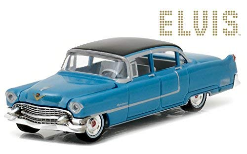 Cadillac 1955 Fleetwood Series 60 Special Elvis Presley Blue (1935-1977) 1/64 by Greenlight 44760 A