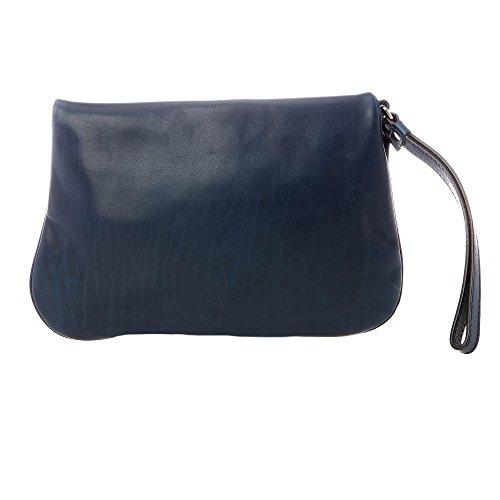 Trussardi Jeans - Mujer pochette en cuero real - 56B018J043 Azul