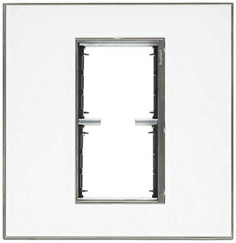 PASS & SEYMOUR AWM2GMW4 2g White Mirror Wall Plate ()
