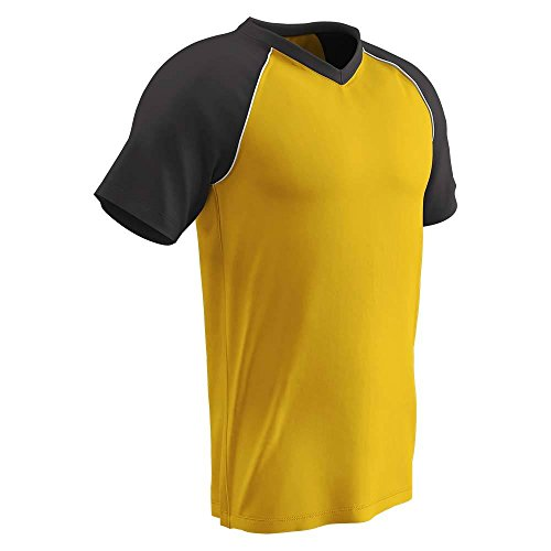 Champro BS35 Youth Bunt MESH Baseball Jersey Bunt Light Weight MESH Jersey Gold, Black, White XL