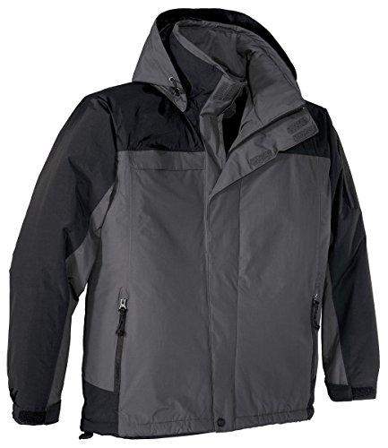 (Port Authority Tall Nootka Jacket>2XLT Graphite/Black TLJ792)