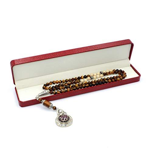 AlbatrosArt Special for Women Muslim Prayer Beads Series-2, (6mm-99 Beads) - 11 Elegant Model -Tesbih-Tasbih-Tasbeeh-Misbaha-Masbaha-Subha-Sebha-Sibha (Unique Design Stylish Tiger Eye Model) ()