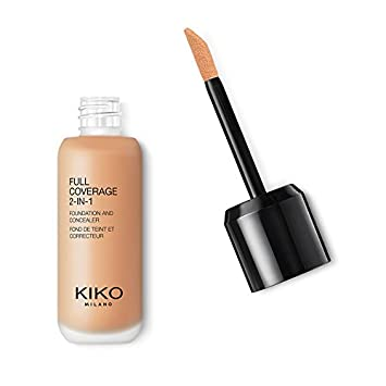 KIKO MILANO – Full Coverage Foundation and Concealer Liquid Foundation Makeup Innovative Formula Superior Coverage Color Medium to Dark WB 60 Cruelty Free Professional Makeup Made in Italy