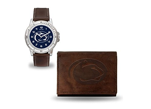 (Rico Industries NCAA Penn State Nittany Lions Watch/Wallet Gift SetBrown Watch/Wallet Gift Set, Team Colors, One Size )