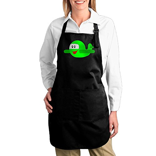 Dogquxio Cartoon Airplane Kitchen Helper Professional Bib Apron With 2 Pockets For Women Men Adults Black - Repo Man Costume For Sale