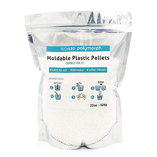 TechLeo Thermoplastic Beads Instant Moldable Plastic 22OZ