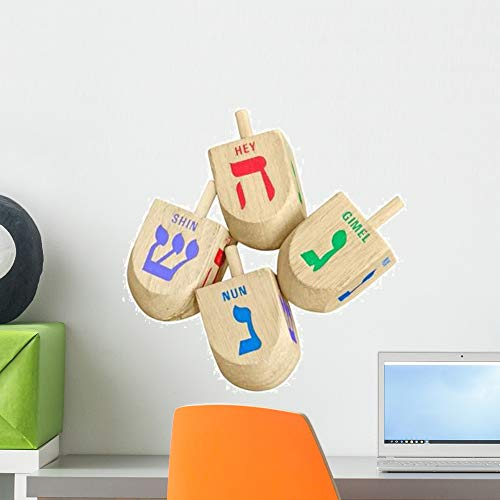 Wallmonkeys Chanukah Dreidels Decoration Wall Decal Peel and Stick Holiday Graphics (18 in W x 13 in H) WM521036