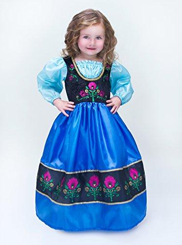 Little Adventures Scandinavian Princess Halloween + Doll Costume + Bow Bundle - L