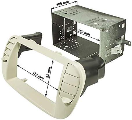 Sound Way Doppel Din 2 Din Autoradio Einbauset Und Radioblende Für Fiat 500 Weiss 2d 500 B Auto