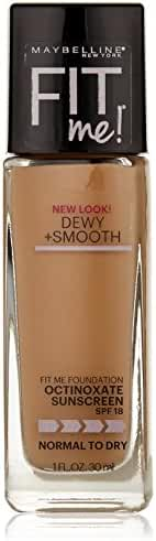 Maybelline New York Fit Me Dewy + Smooth Foundation, Natural Beige, 1 fl. oz.(Packaging May Vary)