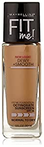 Maybelline Fit Me Dewy + Smooth Foundation, Natural Beige, 1 fl. oz. (Packaging May Vary)