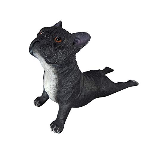 Artgenius Dog Collection- French Bulldog Statue Bulldog Figurine Small,Lying (Black)