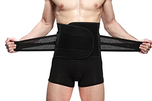 Goege New Style Adjustable Breathable Trimmer Belt,Tummy Fat Burning Slimming Belt,Body Shaper Slimming Tummy Waist Trainer,Lose Weight Fast,Helps Lose Post Boby Weight,Best Waist Trimmer Beer Belly for Men,SizeXXL: 118cm(46
