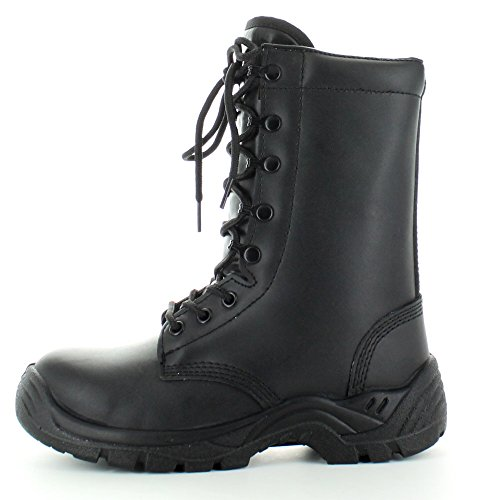 Highlander Boys Pathfinder Military Action Leather Combat Boots Black