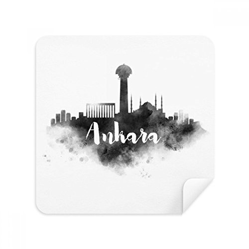 Turkey Ankara - Ankara Turkey Landmark Ink City Painting Glasses Cleaning Cloth Phone Screen Cleaner Suede Fabric 2pcs