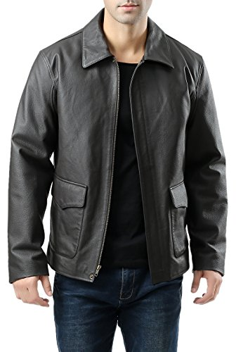 Landing Leathers Men's Hero Indy-Style Leather Jacket - XL Black