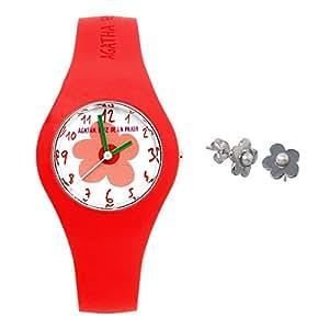 Juego Agatha Ruiz de la Prada reloj AGR220 pendientes plata [AB9807] - Modelo: AGR220: Amazon.es: Joyería