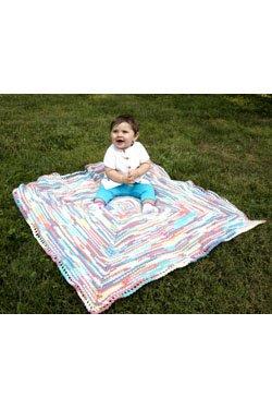 '' X Marks The Spot'' Baby Blanket Crochet Kit in Dreambaby DK Paintpot yarn by Dreambaby DK Paintpot