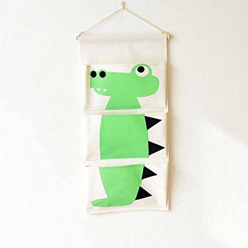 mk. park - Cute Cartoon Animal Storage Bag Door Hanging Canvas Pockets Deco Bag (Crocodile)