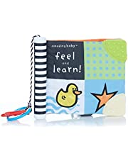 """Amazing Baby Feel and Learn Soft Teether Book, 7"""""""