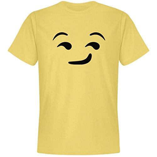 Emoji Suggestive Face Costume: Unisex Next Level Premium T-Shirt Banana Cream ()