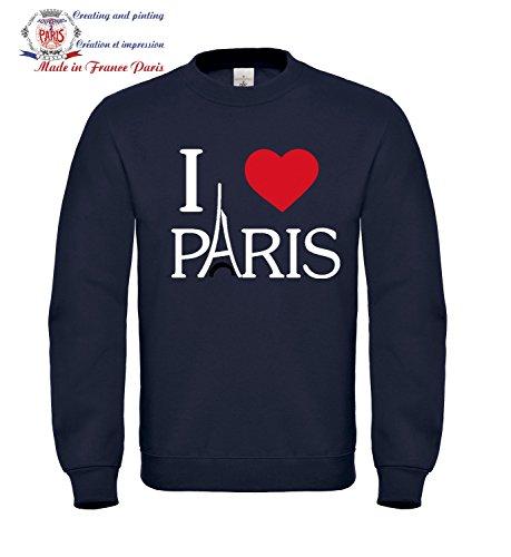 Sweat shirt Femme taille S Bleu - i love Paris La Tour Eiffel