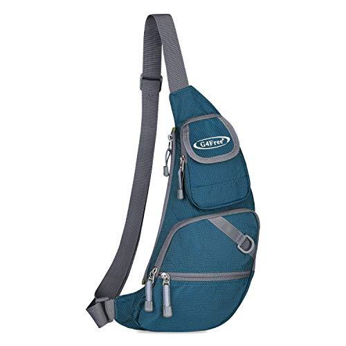 G4Free Hiking Sling Backpack Bag Crossbody Blue Backpack One Strap Shoulder Backpacks for Men Women Lightweight Cycling Backpack for Camping (Dark Blue)