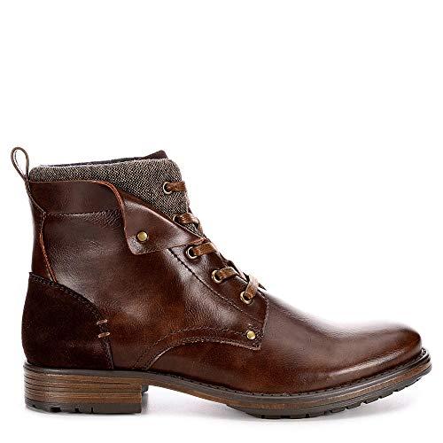 Jeffrey Tyler Mens Kolby Faux Leather Lace Up Boot Shoes - stylishcombatboots.com